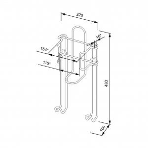 Держатель для утюга и гладильной доски (490х220х100 мм), белый
