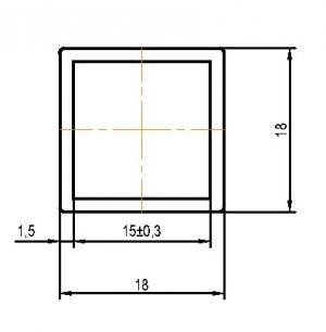 Профиль БАЗОВЫЙ ЛОФТ 18х18х3000мм черный муар