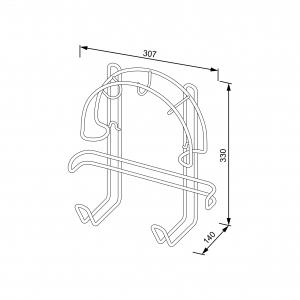 Держатель для шланга пылесоса (310х330х150 мм), металлик серебристый