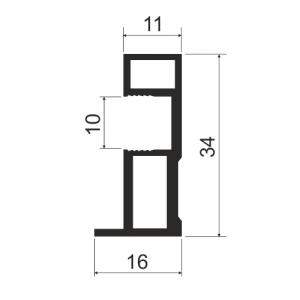 MS 163 Профиль вертикальный