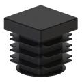 Заглушка пластиковая квадртная 18х18 черная